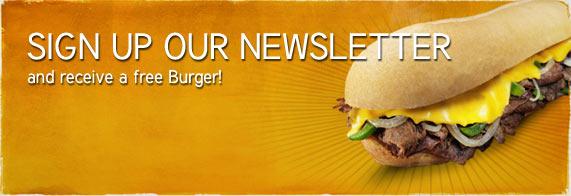 Sign up newsletter